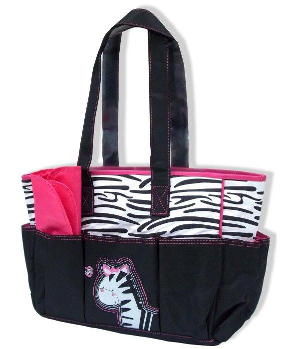 Jump N Splash Y Tots Zebra Print Diaper Bag Style 335705801