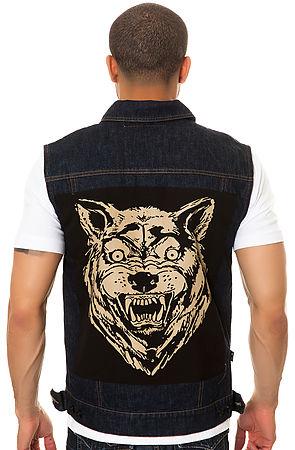 The Wolf Denim Vest in Rinse