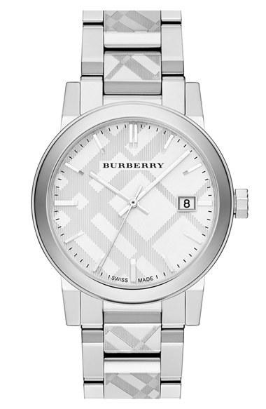 Burberry Check Stamped Brac...