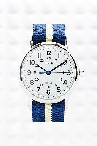 Timex Stripe Canvas Strap W...