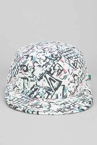 Tropicalia Geo-Print Fitted Painters Hat - Urban Outfitters