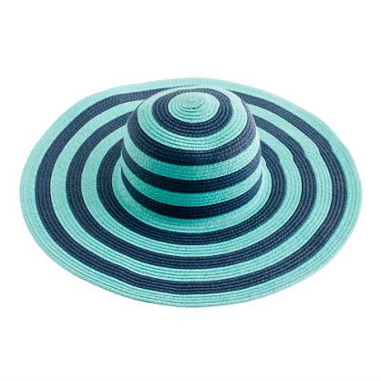 Summer straw hat in stripe