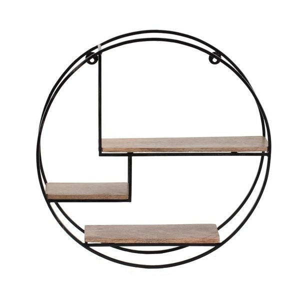 Marly Round Floating Wall Shelf - 19.50 x 19.50 x 4.75. Opens flyout.