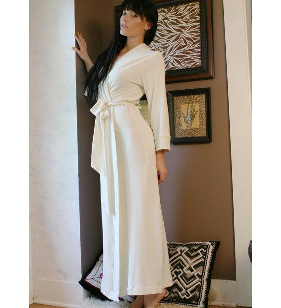 womens long robe - BAMBOO T...