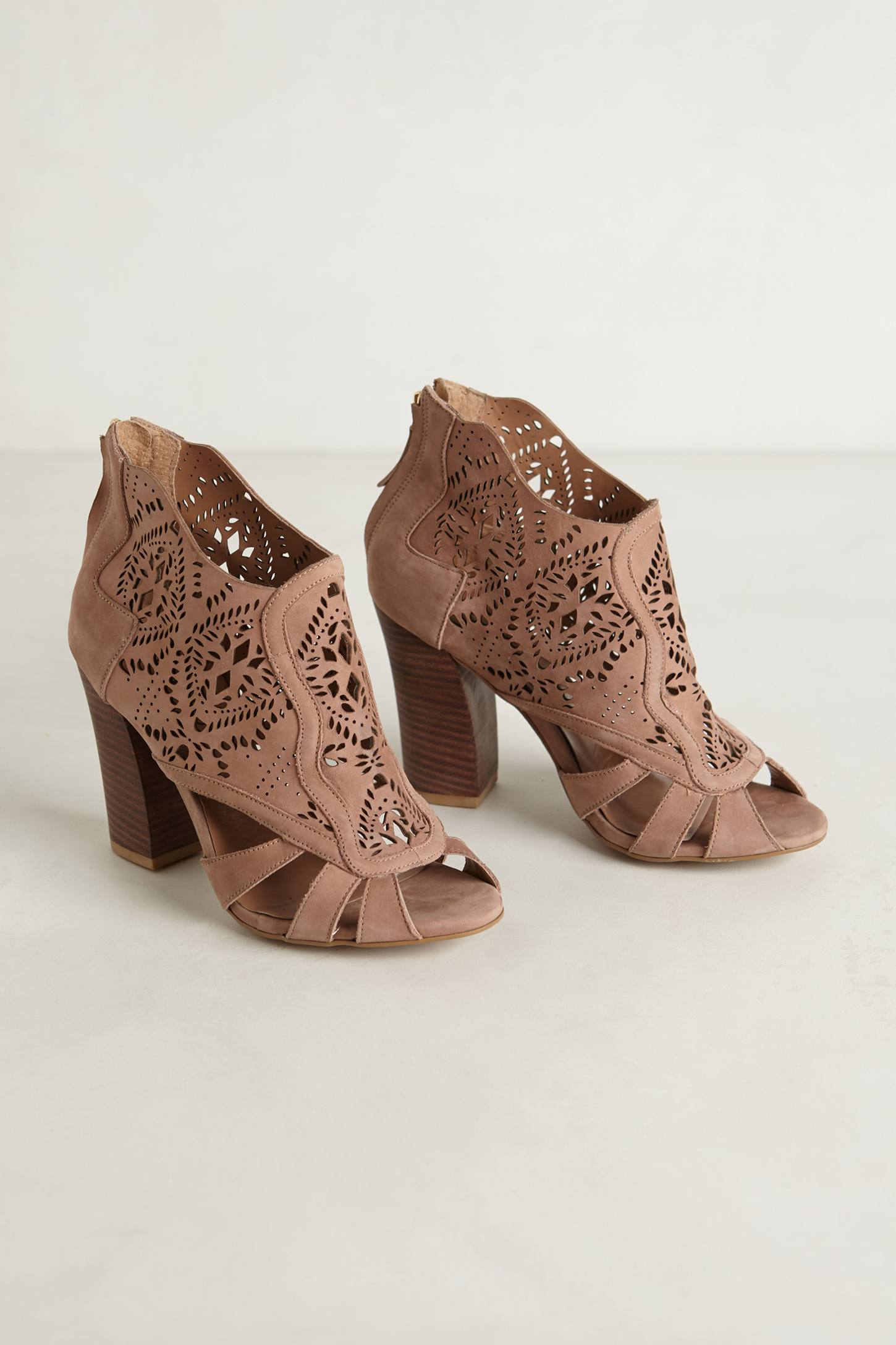 Mirelle Lacecut Booties - a...