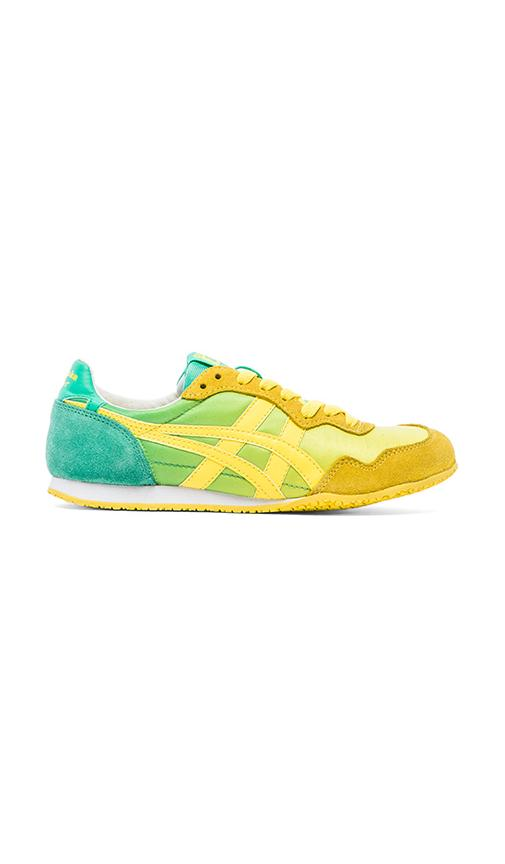 on sale cf3ff 0049b Onitsuka Tiger Serrano Sneaker in Mint   Yellow   REVOLVE