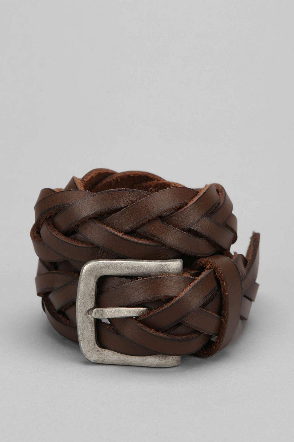 Braided Leather Belt - Urba...