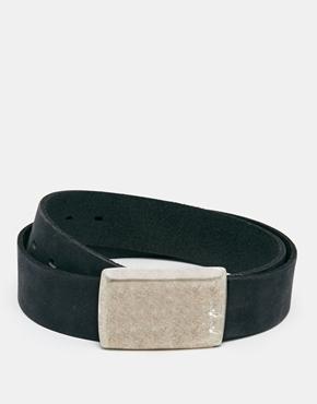Image 1 ofASOS Leather Bel...