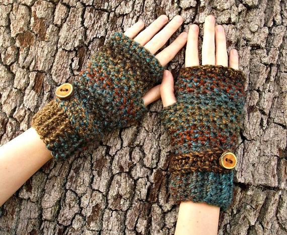 Crocheted Fingerless Gloves...