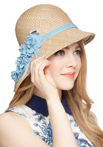 Pure Edith Hat in Blue - Ta...