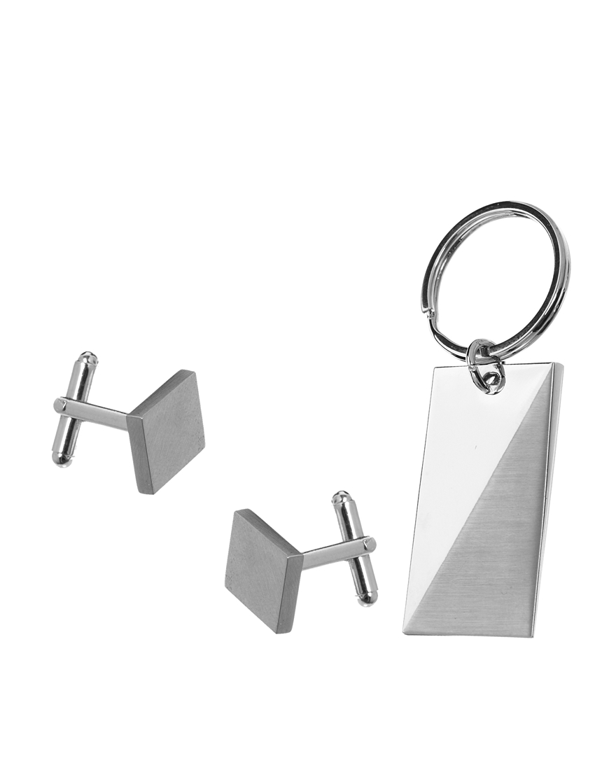 Image 1 of ASOS Cuff Link and Keychain Set
