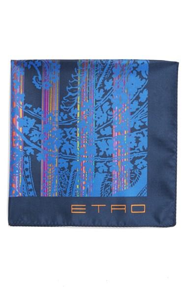 Etro Print Silk Pocket Squa...