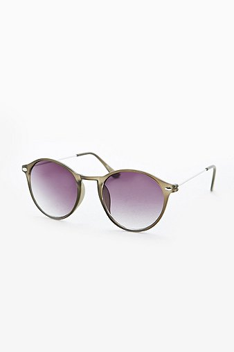 Round Frosted Frame Sunglas...