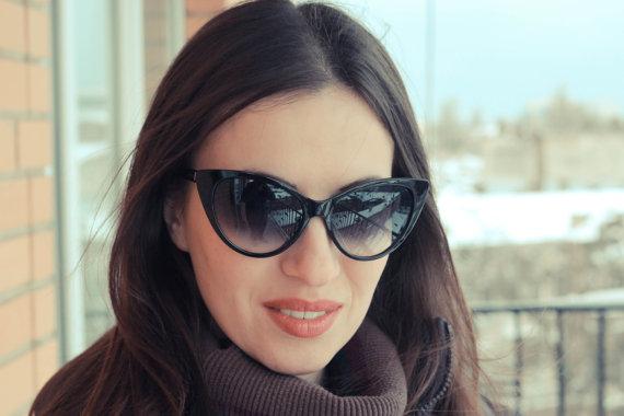 Vintage cateye sunglasses. ...