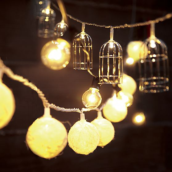 Cage String Lights in Outdo...