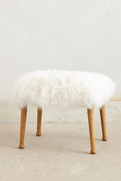 Luxe Fur Stool - anthropolo...