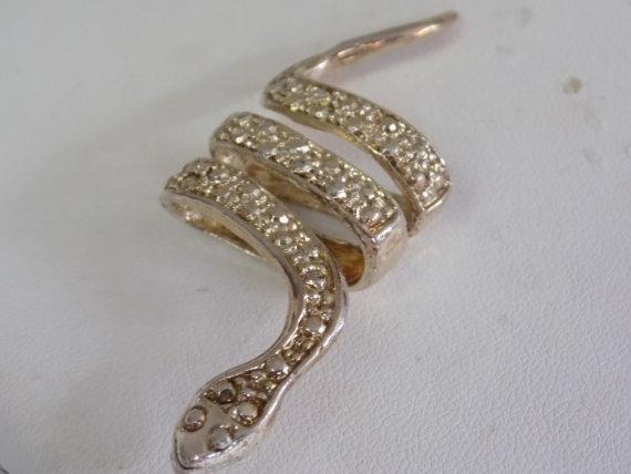 Vintage snake scarf ring, f...