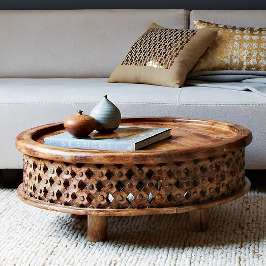 Carved Wood Coffee Table West Elm Shoplinkz Furniture And Home - West elm carved wood side table