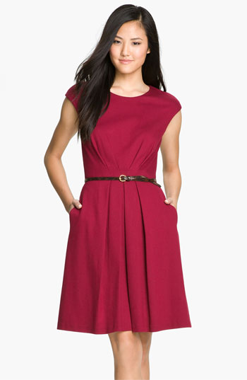 Maggy London Belted Ponte K...