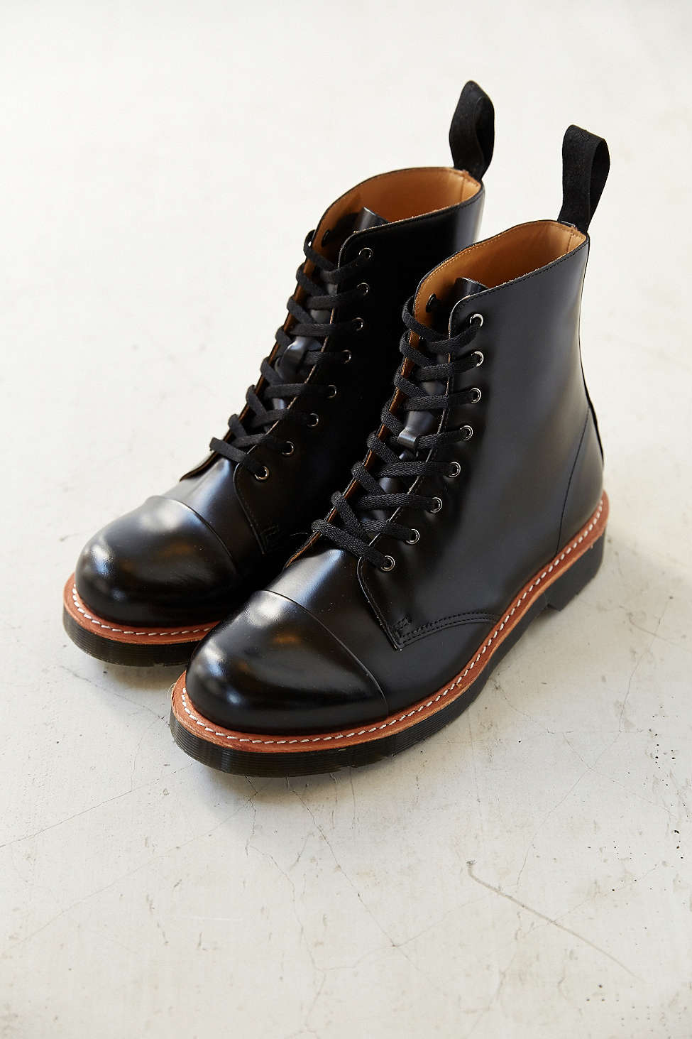 Dr. Martens Charlton 8-Eye Polished Boot - Urban Outfitters