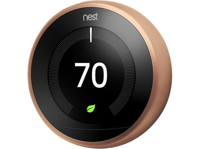 Learning Thermostat - 3rd Generation, Copper - Newegg.com