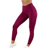 Chrideo - Women's Red Leggings With Pockets | USA