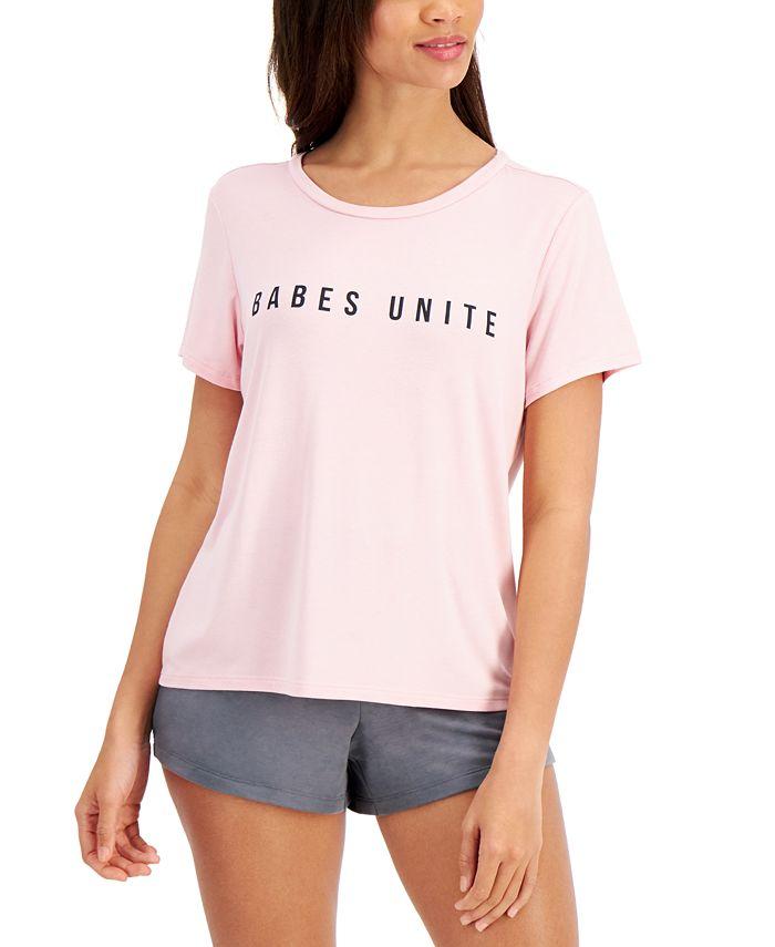 Women's Empowerment Loungewear T-Shirt, Created for Macy's