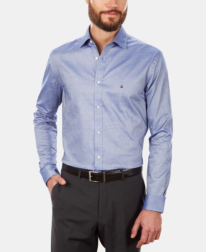 Men's Slim-Fit Stretch Solid Dress Shirt