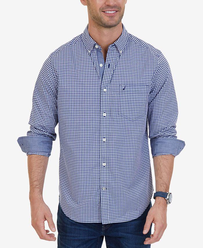 Men's Classic-Fit Stretch Gingham Shirt