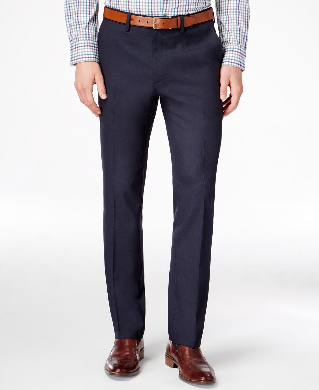 Men's Slim-Fit Stretch Dress Pants, Created for Macy's & Reviews - Pants - Men - Macy's