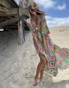 Slik Kaftan Dress