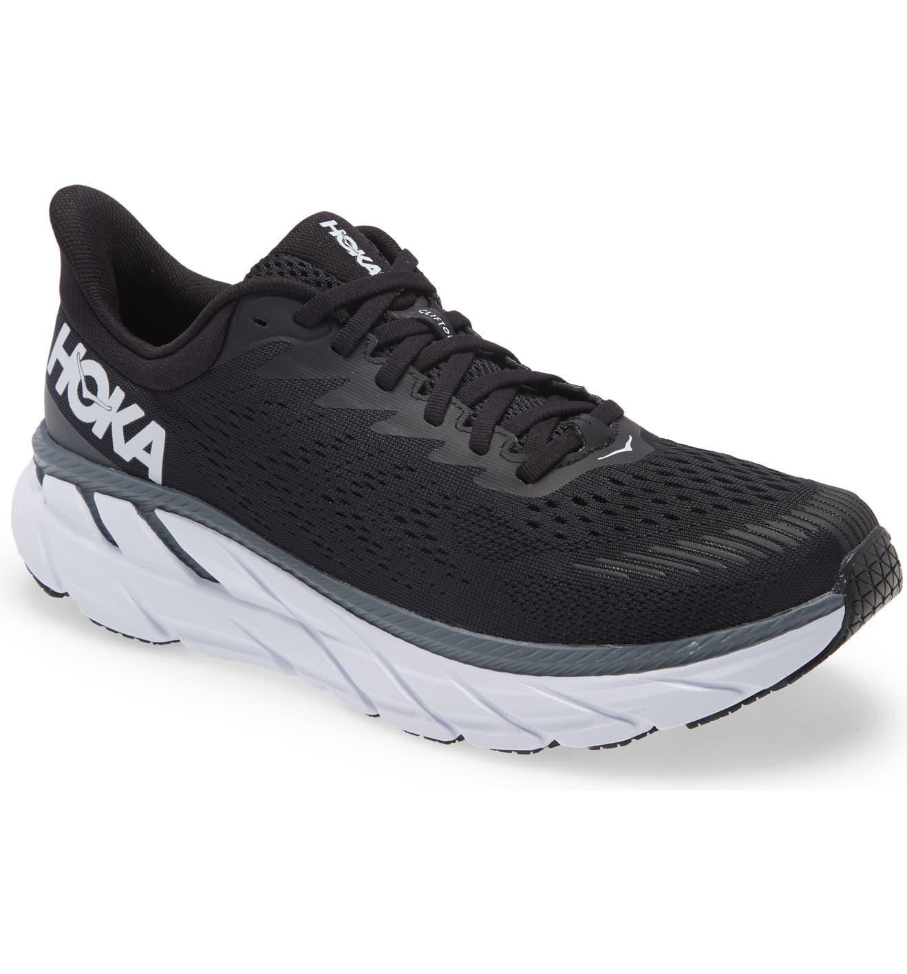 Clifton 7 Running Shoe, Main, color, BLACK / WHITE