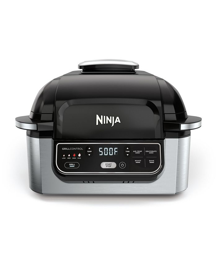 ® Foodi™ 5-in-1 Indoor Grill with 4-Quart Air Fryer, Roast, Bake, Dehydrate, and Cyclonic Grilling Technology, AG301