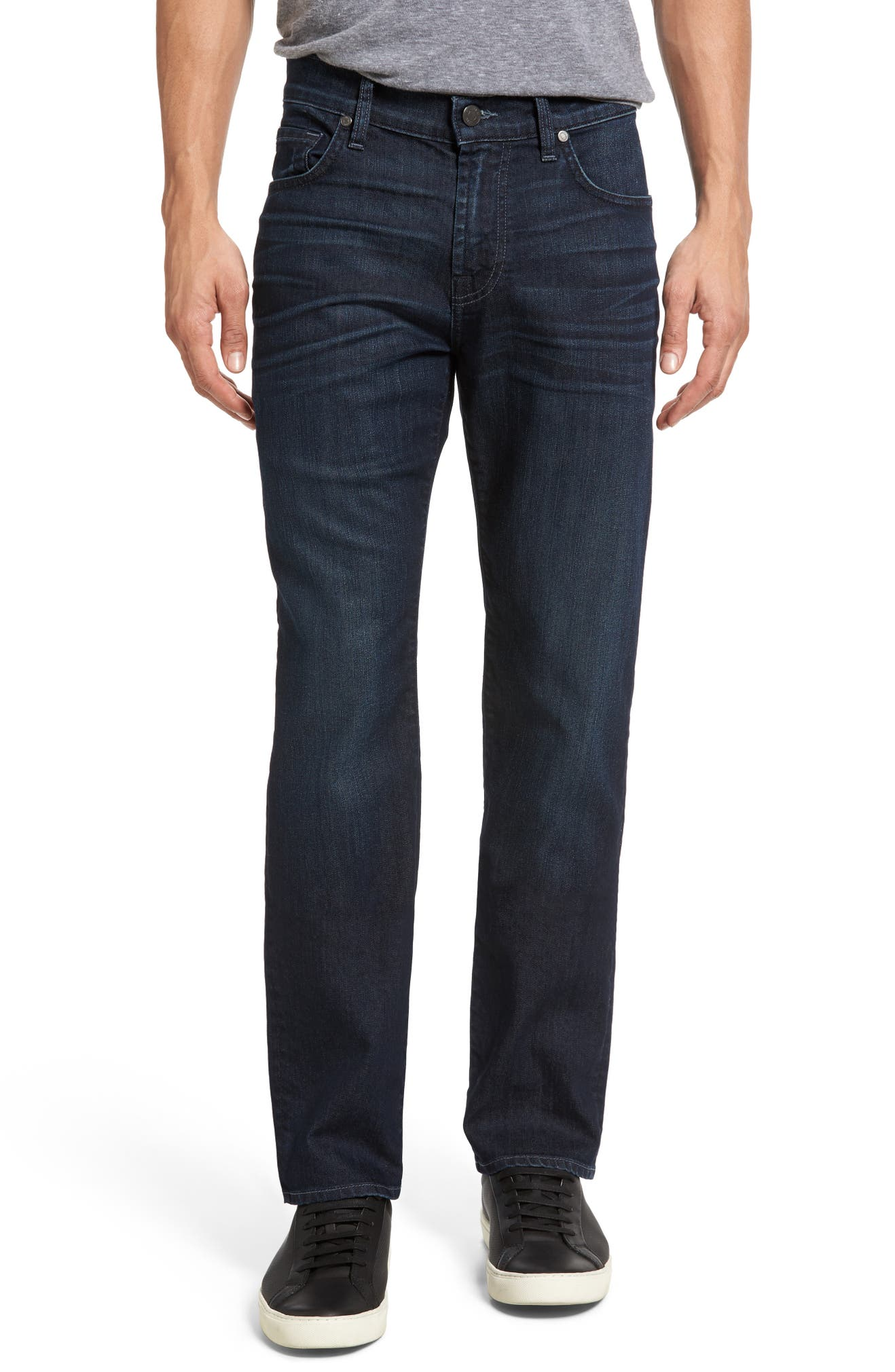 The Straight AirWeft Slim Straight Leg Jeans, Main, color, PERENNIAL