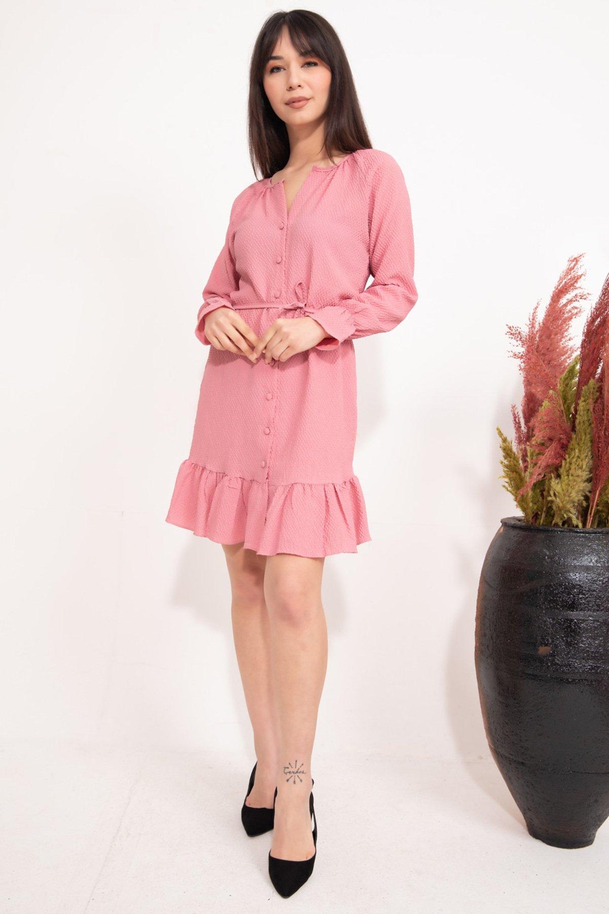 Women's Frill Hem Short Dress