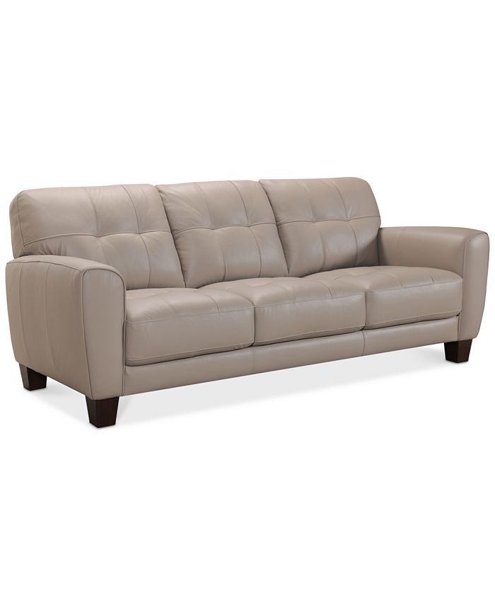Furniture - Kaleb Tufted Leather Sofa