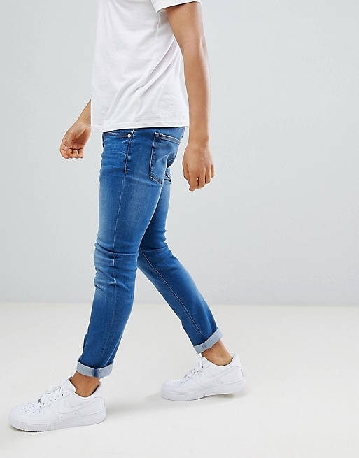River Island skinny jeans in mid wash blue, 4 of 4