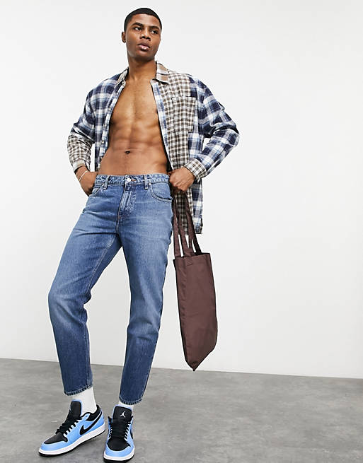classic rigid jeans with sustainable 'less thirsty' wash in blue, 1 of 4