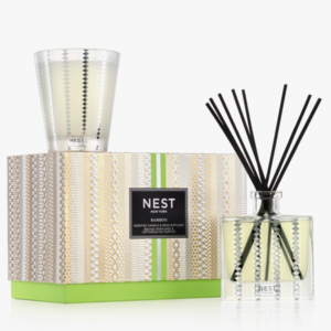 Bamboo Candle Diffuser Set