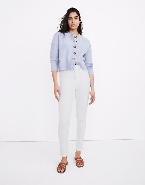"""11"""" High-Rise Skinny Jeans in Pure White in pure white image 1"""