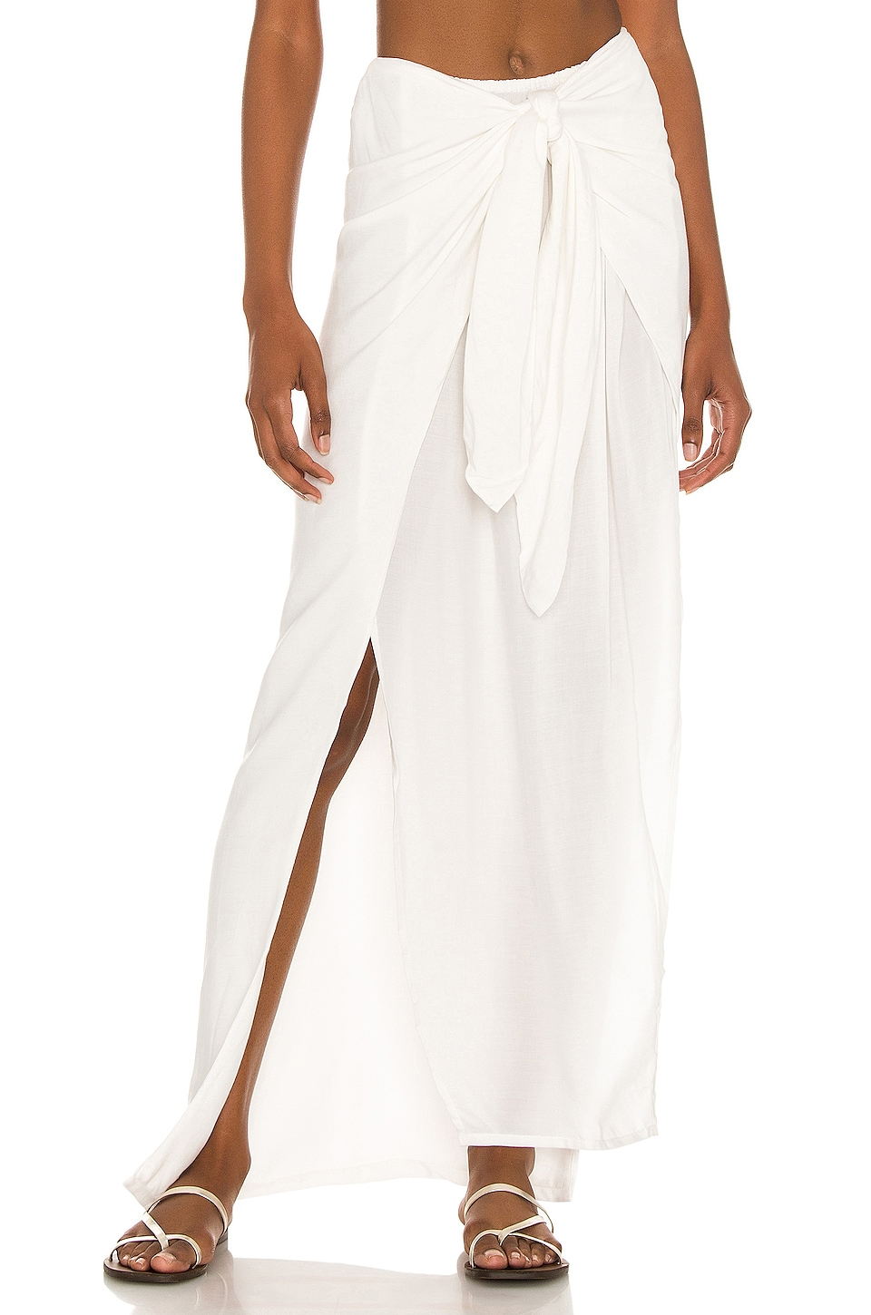 Tigre Sarong Skirt in Ivory