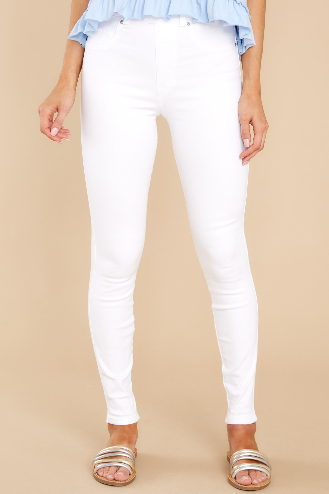 White Ankle Skinny Jeans