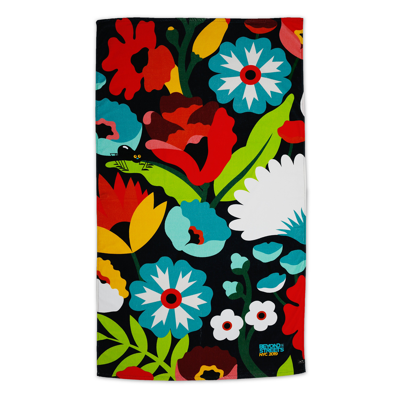 DABSMYLA Spider Floral Beach Towel