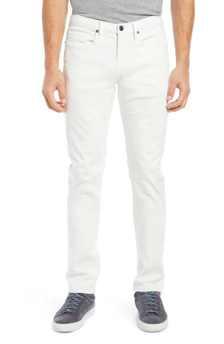 FRAME L'Homme Slim Fit Jeans, Main, color, WHISPER WHITE