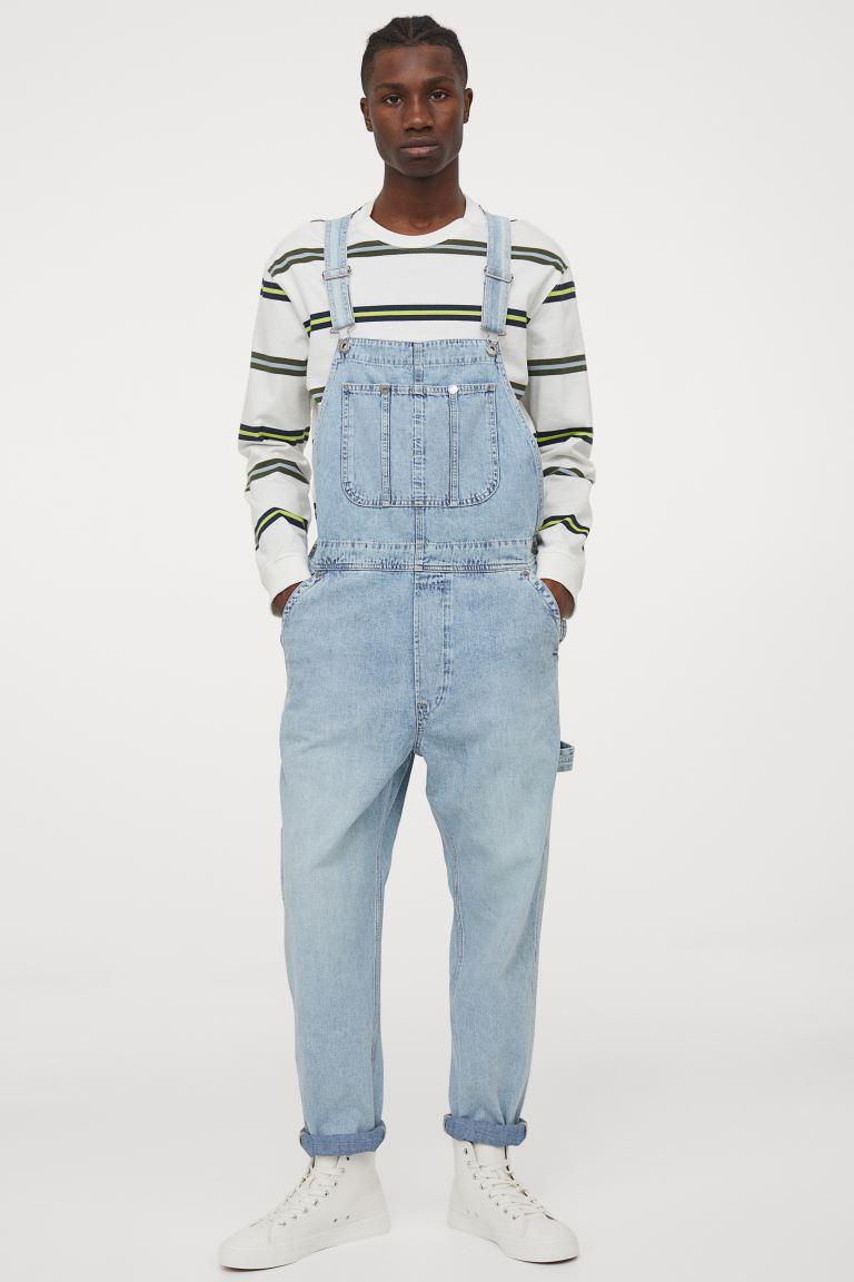 Denim Overalls - Light denim blue - Men   H&M US