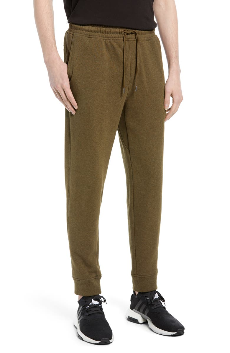 ATM ANTHONY THOMAS MELILLO Mélange French Terry Joggers, Main, color, OLIVE HEATHER