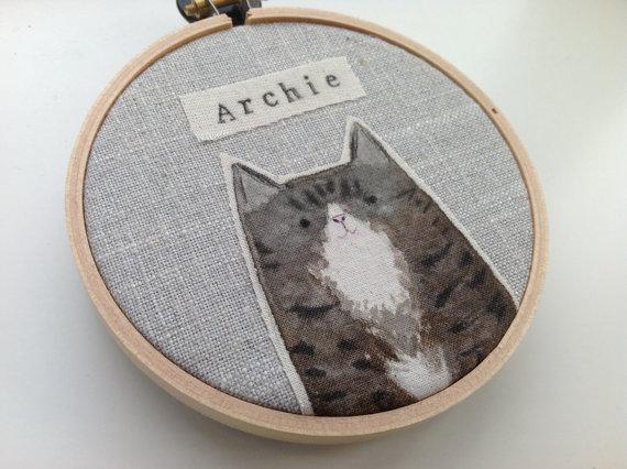 Personalised pet cat portra...