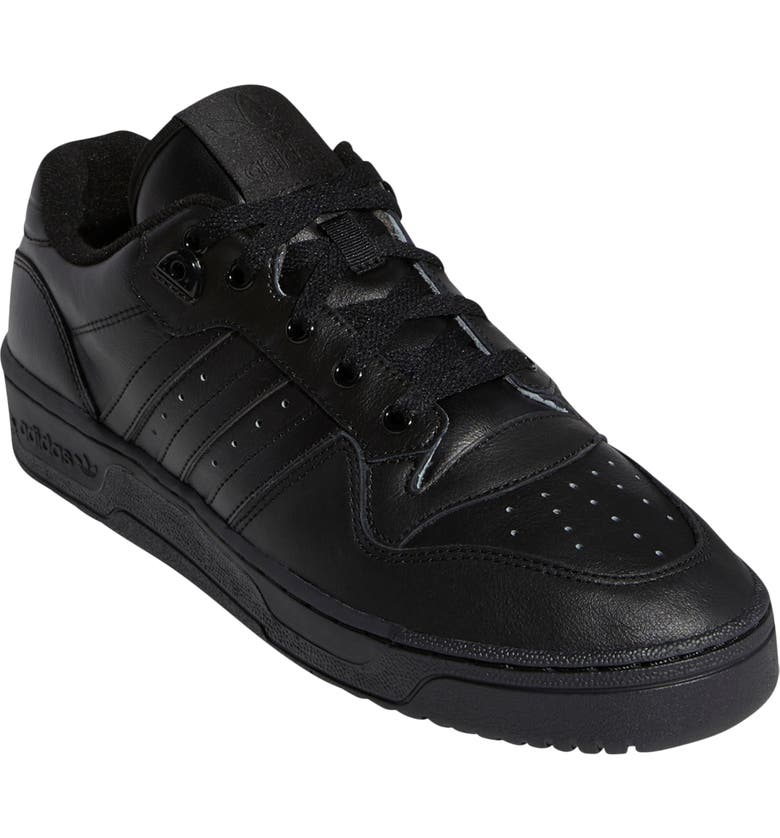 ADIDAS Rivalry Low Sneaker, Main, color, BLACK/ BLACK/ WHITE