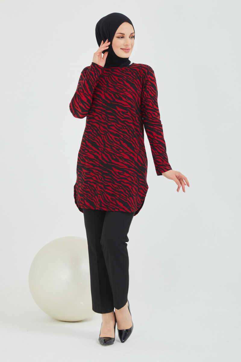 Women's Zebra Pattern Red Dress