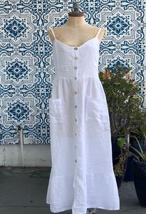 A. Laurent Maxi Linen Dress